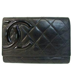 Chanel Cambon Lambskin Matelasse clutch Wallet